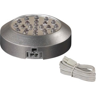 """CounterMax MX-LD 3.125"""" Wide Plastic Under Cabinet Disc Light - Silver"""