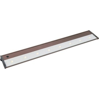 "CounterMax MX-L120D 5"" Wide Metal Under Cabinet Light - Metallic bronze"