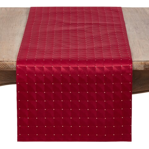 Holiday Table Runner With Checkered Design