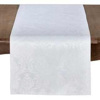 Beautiful Damask Table Runner With Subtle Print