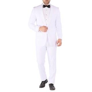 Ferrecci Reno All White Slim Fit 2pc Shawl Tuxedo