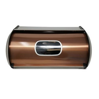 Modern Stylish Stainless Steel Bread Box with Sliding Lid and Transparent window