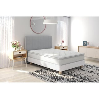 Signature Sleep Revive Gold Queen 10 inch Queen Revive 5 Zone Independently Encased Coil Mattress and Foundation