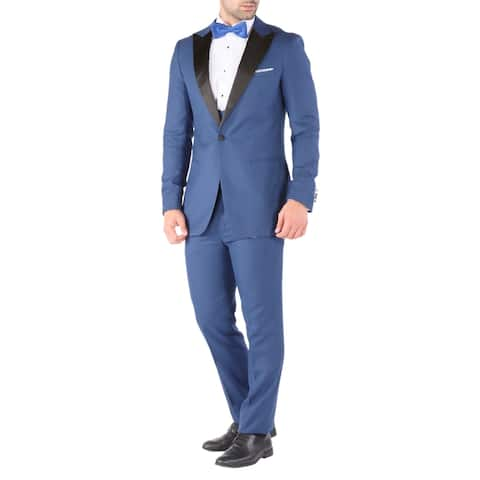 Ferrecci Luna 3pc Peak Lapel Slim Fit Mens Tuxedo