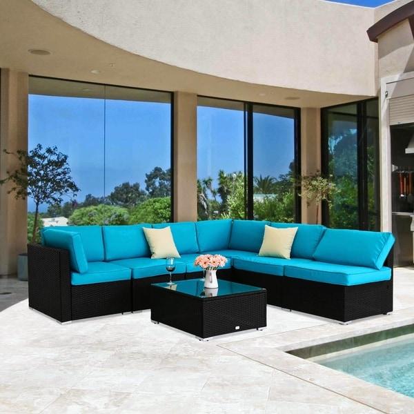 Shop Kinbor 7 Pcs All Weather Outdoor Furniture Patio