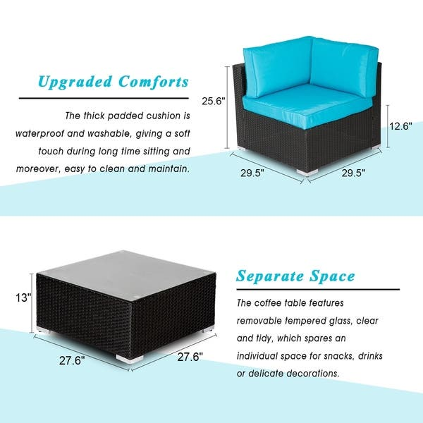 Shop Kinbor 7-piece Patio Furniture Set All Weather Outdoor ...