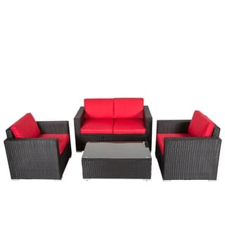 Red Wicker Patio Furniture Find Great Outdoor Seating Dining