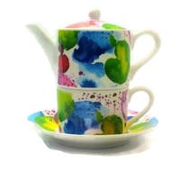Roy Kirkham Tea for One Teapot with Tea Cup and Saucer - The Planets
