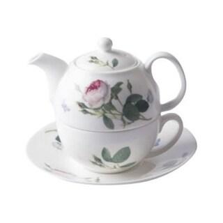 Roy Kirkham Tea for One Teapot with Tea Cup and Saucer - Palace Garden
