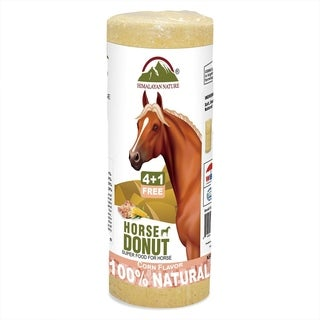 Himalayan Nature Horse Salt Donuts Corn-Flavor Attract Deer, 3.6-lbs