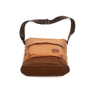 TSD Brand Urban Light Coated Canvas Crossbody