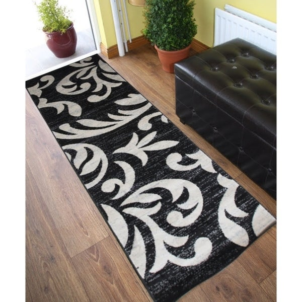 Knoxville Area Rug F 7510 Black-Gray 3' x 8' - 3' x 8'
