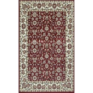 Sun Ray Outline Red Area Rug - 3' x 5'