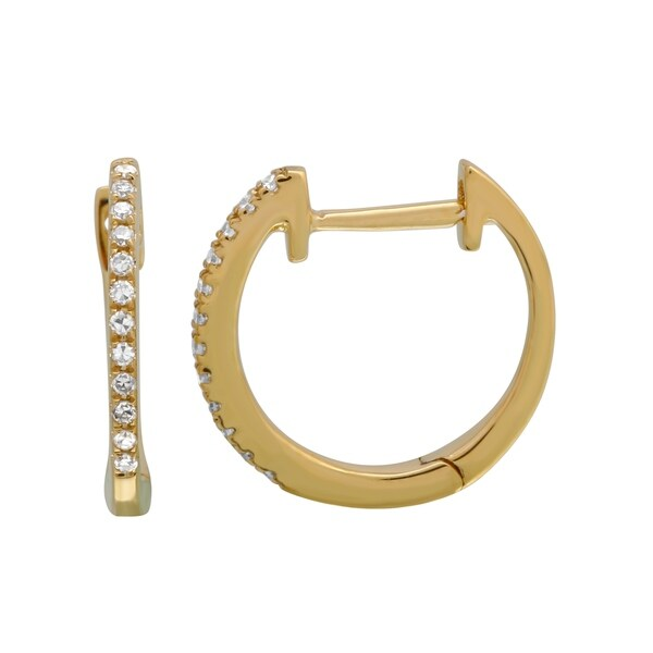 bfb31e0ac Shop 14k Yellow Gold Earring 0.07 Ct Natural White Diamond Ear Stud For  Women & Teens - Free Shipping Today - Overstock - 22866994