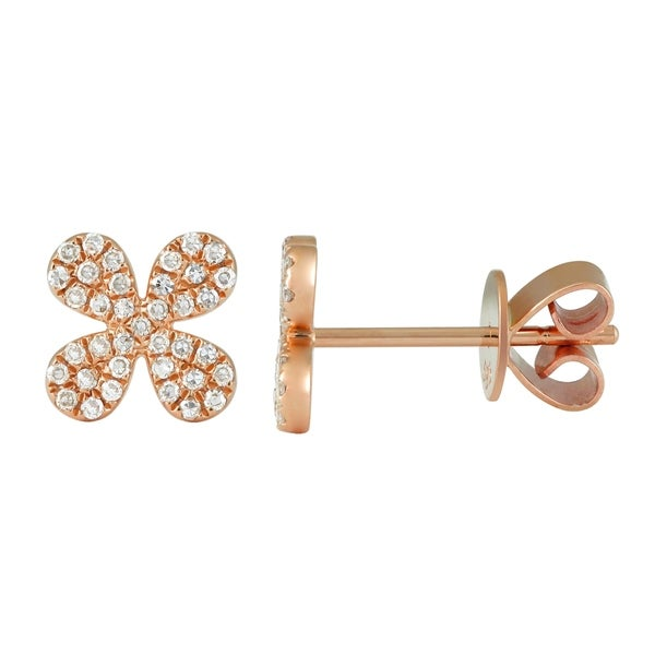 14k Gold Two Stone Earring Jacket with Diamonds 0.2 ct. tw. G-H,I1-I2 and Sapphire
