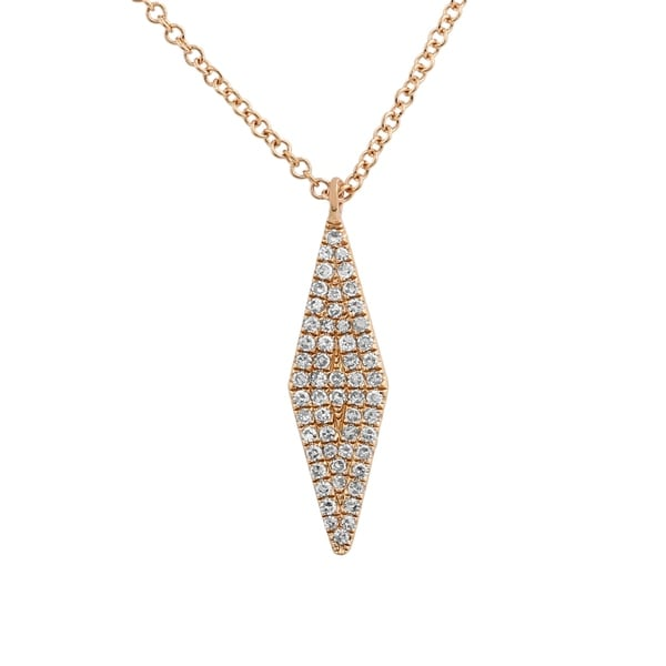 ecdbdf9bd19 Shop 14k Rose Gold Necklaces For Women 0.16 Ct Natural Diamond Geometric  Shape Pendant Necklace - Free Shipping Today - Overstock - 22867631