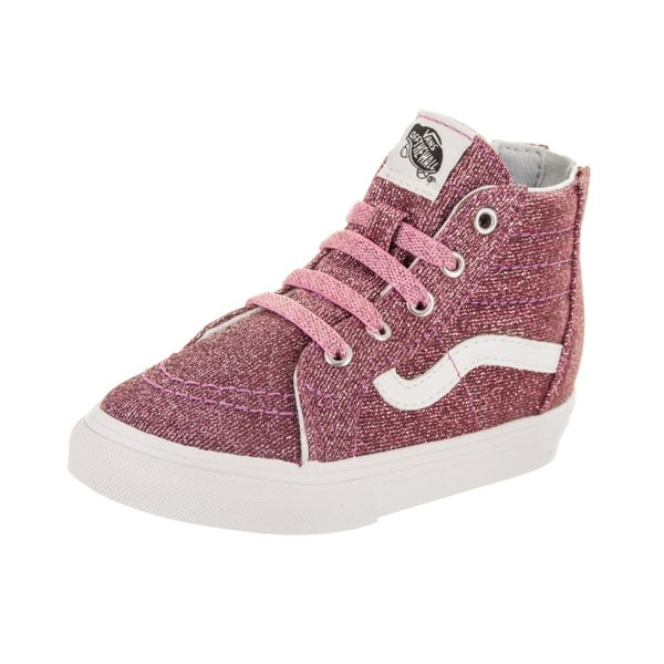 444e9a8ca816 Shop Vans Toddlers Sk8-Hi Zip (Lurex Glitter) Skate Shoe - Free ...