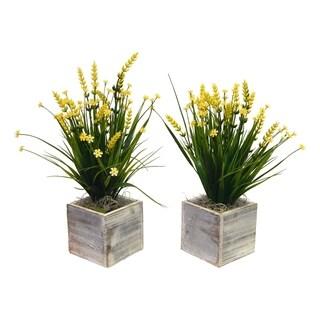 Set of 2 Farmhouse Wildflower Arrangements