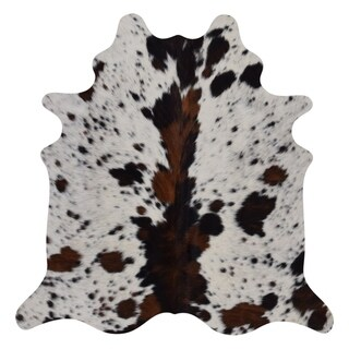 Real Cowhide Rug Tricolor Spine