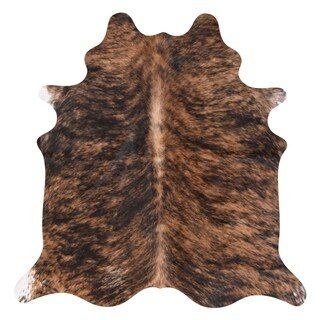 Real Cowhide Rug Dark Brindle