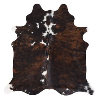 Real Cowhide Rug Brindle & White