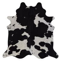 Real Cowhide Rug Black & White