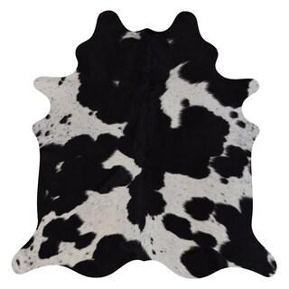 Real Cowhide Rug Black & White