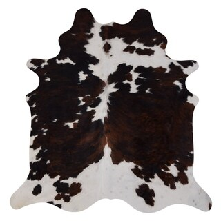 Real Cowhide Rug Tricolor & White
