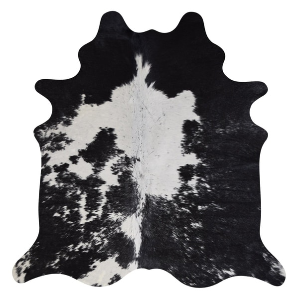 Shop Real Cowhide Rug Black & White
