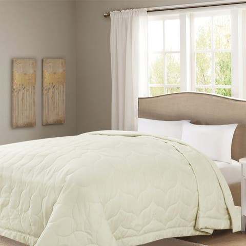 Honeymoon Queen Down Alternative Comforter Hypollergenic,Whisper White