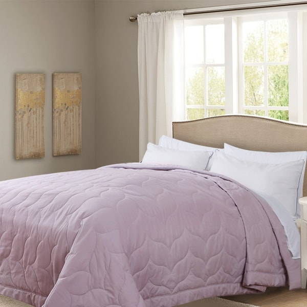 Honeymoon Queen Down Alternative Comforter Hypollergenic, Peach Whip