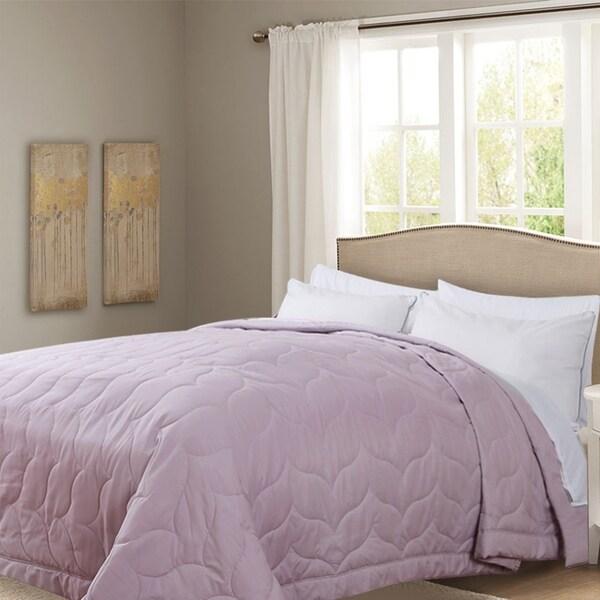 Honeymoon King Down Alternative Comforter Hypollergenic, Peach Whip