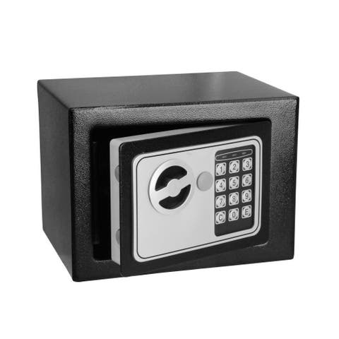SereneLife SLSFE11 Compact Electronic Safe -Mechanical Override & Keys