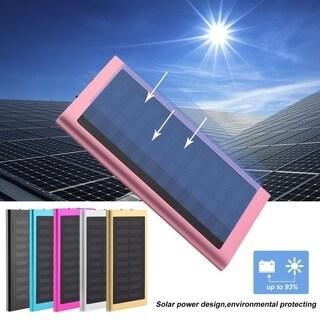 100000mAh Dual USB External Battery Charger Phone Solar Power Bank