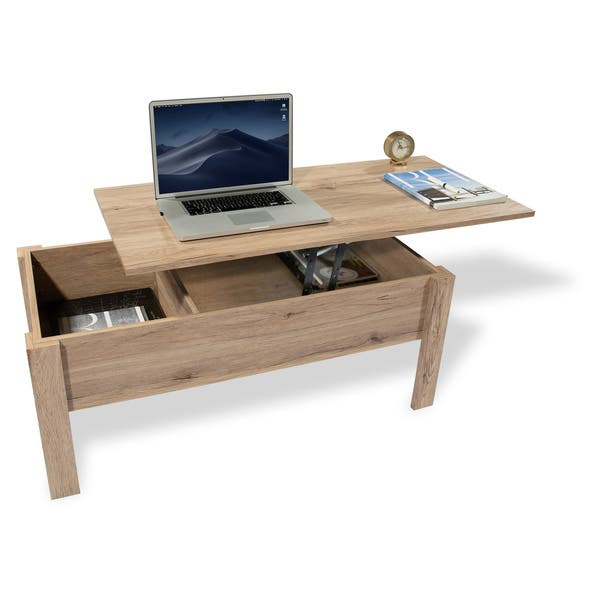Superb Shop Emily Light Oak Finish Lift Top Coffee Table With Cjindustries Chair Design For Home Cjindustriesco