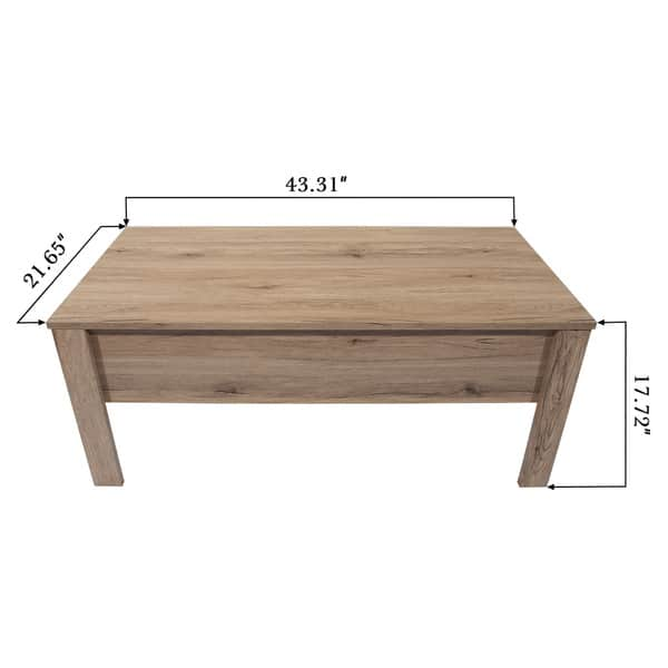 Magnificent Shop Emily Light Oak Finish Lift Top Coffee Table With Cjindustries Chair Design For Home Cjindustriesco