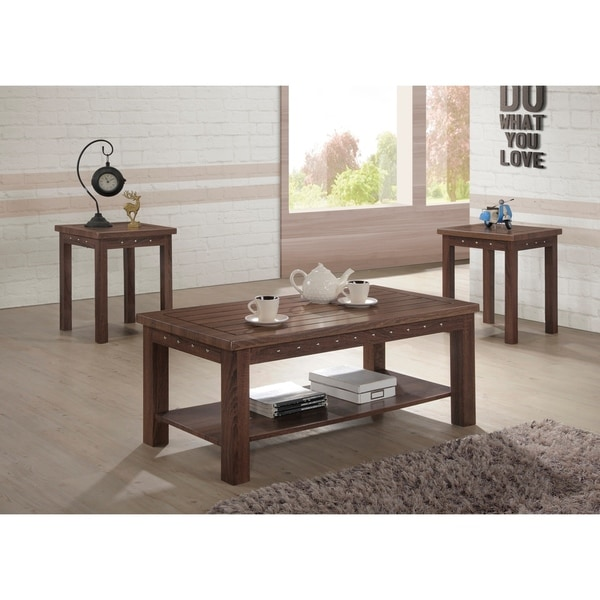 Verlin Antique Cherry Finish Coffee And End Table Set Of 3 17 72 X