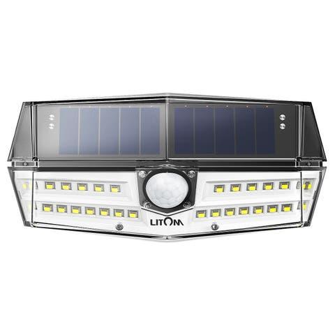 Litom Solar Lights Outdoor 30 LEDs Sensor Waterproof light Wall Light for Garden, Yard