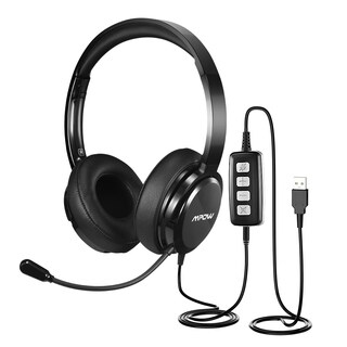 Mpow USB Headset/3.5mm Computer Headset, with Microphone