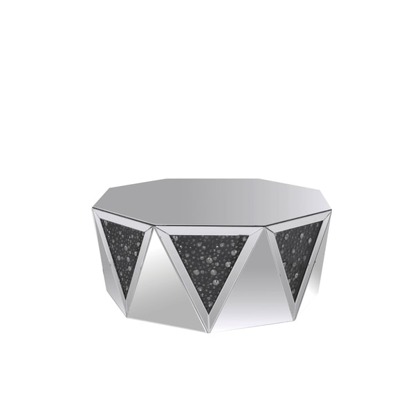 Mirrored Octagon Coffee Table: Shop Coffee Table With Octagonal Mirrored Top, Clear And