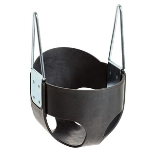 Sturdy Rubber 'Full Bucket' Baby Seat (metal insert) - no ropes - Black