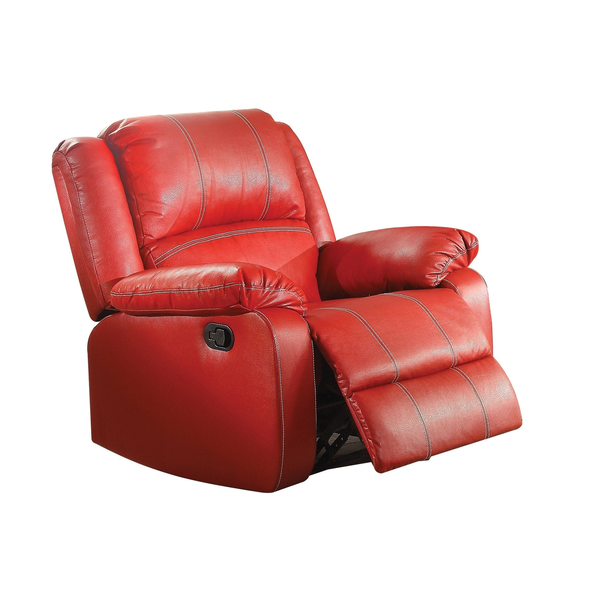 Dfs Red Leather Swivel Chair: Red Leather Rocker Recliner Chair