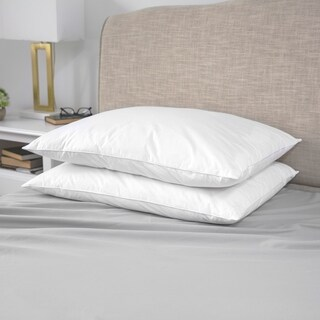 SensorPEDIC Micro-Feather Plush Pillows - 2 Pack - White