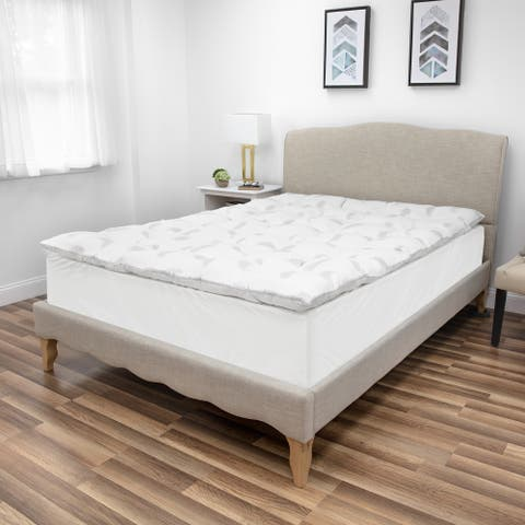 SensorPEDIC Quilted Memory Foam and Micro-Feather Mattress Topper