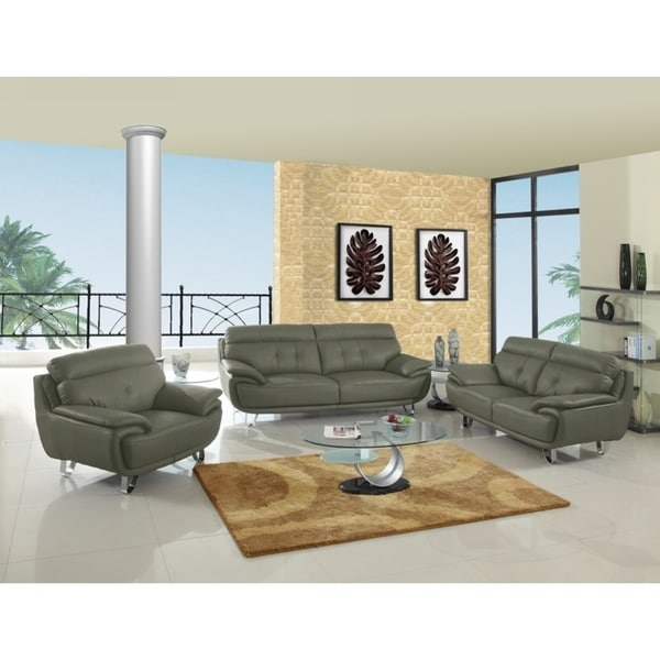 shop contemporary leather leather match upholstered living room 3 piece set on sale free. Black Bedroom Furniture Sets. Home Design Ideas