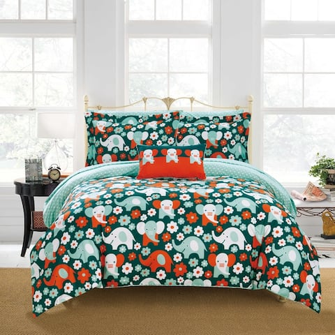 Chic Home Scianti 8 Piece Reversible Comforter Set Elephant Design
