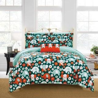 Chic Home Scianti 8 Piece Reversible Comforter Set Elephant Design - Multi-color