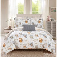 Chic Home Horned 8 Piece Reversible Comforter Set Cute Owl Design