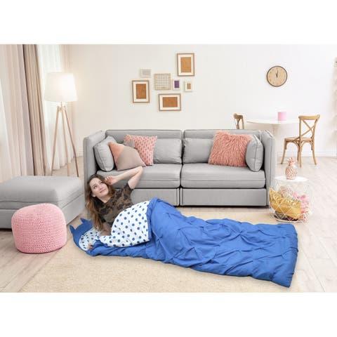 Chic Home Nicki Sleeping Bag with Hood Pinch Pleat for Teen/Adult - Twin - Twin XL