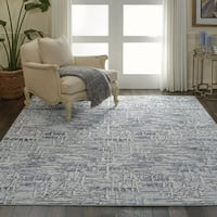 """Nourison Urban Chic Ivory Abstract Area Rug - 7'10"""" x 9'10"""""""